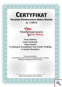 Certyfikat Brzeznica